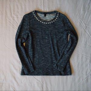 JCrew Crewneck Jeweled Sweater